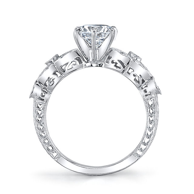 Item # E32568PP View 2 - Vintage Diamond Engagement Ring