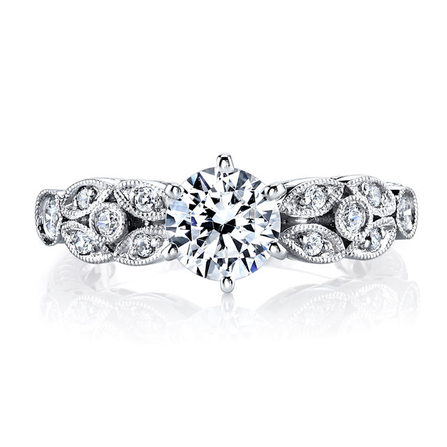 Item # E32568PP View 3 - Vintage Diamond Engagement Ring