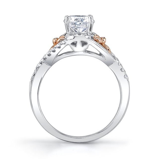 Item # E32740E View 2 - Rose & White Gold Diamond Engagement Ring