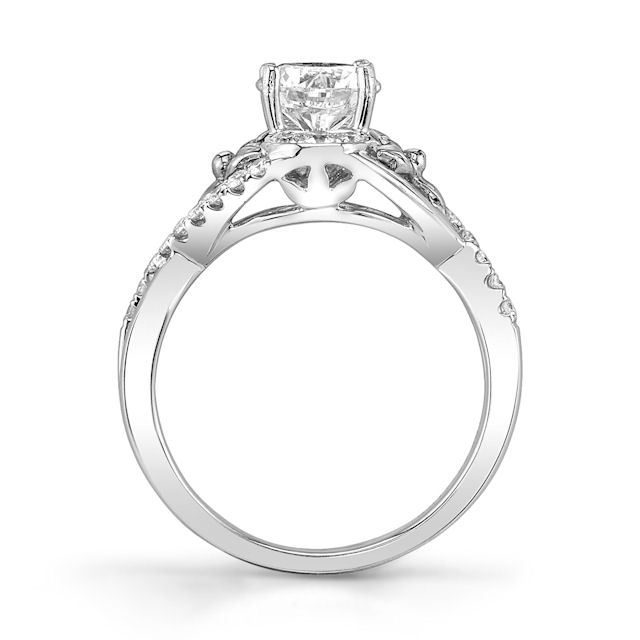 Item # E32740PP View 2 - Platinum Diamond Engagement Ring