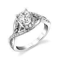 Item # E32740WE - White Gold Diamond Engagement Ring