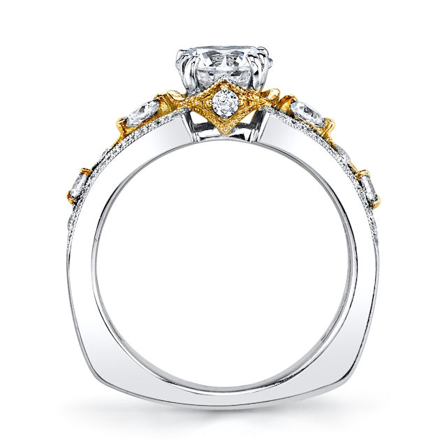 Item # E32837 View 3 - Two-Tone Diamond Engagement Ring