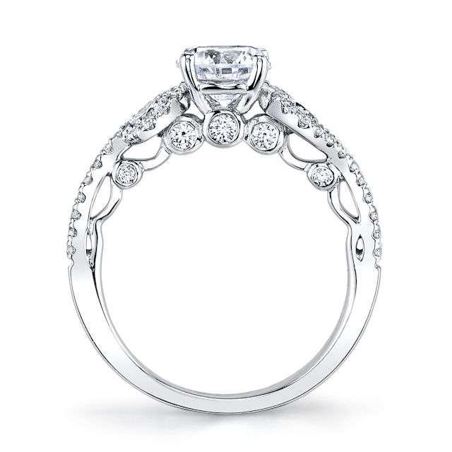 Item # E32921W View 2 - Diamond Sculptural Engagement Ring