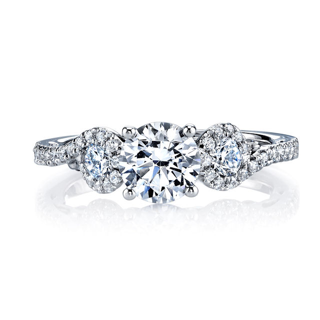 Item # E32921W View 3 - Diamond Sculptural Engagement Ring