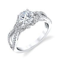 Item # E32961W - Infinity Diamond Engagement Ring