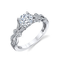 Item # E33036W - Vintage Diamond Engagement Ring