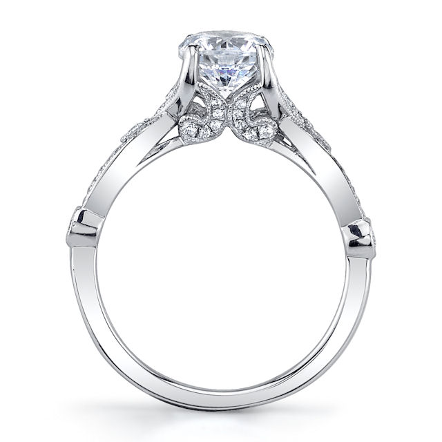 Item # E33038WE View 2 - White Gold Diamond Engagement Ring
