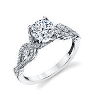 Item # E33038WE - White Gold Diamond Engagement Ring