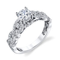 Item # E33229PP - Platinum Modern Engagement Ring