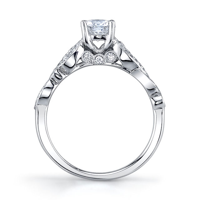 Item # E33229W View 2 - Modern Diamond Engagement Ring