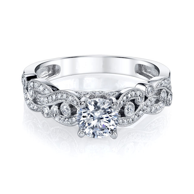 Item # E33229W View 3 - Modern Diamond Engagement Ring