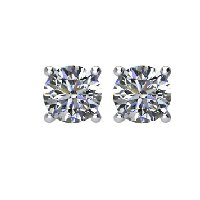 Item # E70251PP - Platinum Diamond earrings 0.25ct