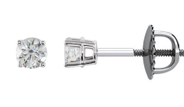 Item # E70331WE View 2 - Diamond Stud earrings 18K