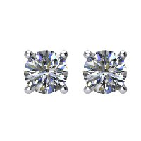 Item # E70331WE - Diamond Stud earrings 18K
