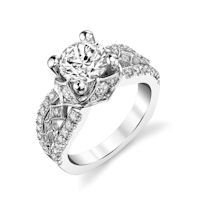 Item # E7043WE - White Gold Diamond Engagement Ring