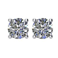 Item # E70501WE - 0.50ct.  18K Diamond Stud Earrings