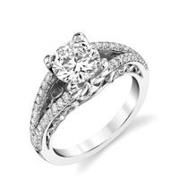 Item # E7082WE - 18K White Gold Diamond Engagement Ring