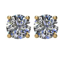 Item # E71001E - 18K Diamond Stud earrings