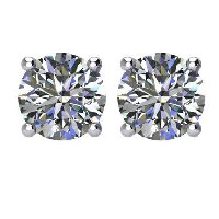 Item # E71001W - 14K Diamond Stud earrings