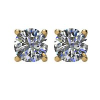 Item # E71501 - 14K 1.50 ct Round Diamond Earrings 1.50ct.