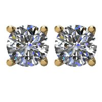 Item # E72001E - 18K Diamond Stud Earrings