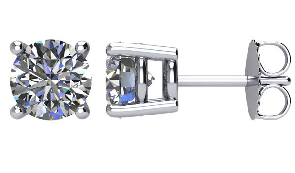 Item # E72001WE View 2 - 18K 2.0ct. Diamond Stud Earrings