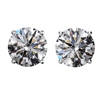 Item # E73001W - 14K 3.0ct. Round Diamond Earrings