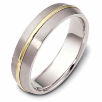 Item # F116171PE - 18K Gold and Platinum Wedding Band.