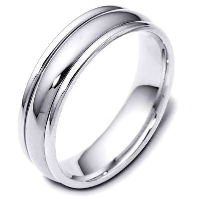 Item # F119591PD - Palladium, 6.0 mm wide, comfort fit wedding band. The finish on the ring is polished. Other finishes may be selected or specified.
