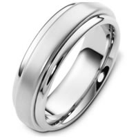 Item # F125791W - 14K White Gold Wedding Band.