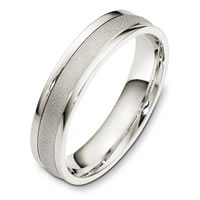 Item # F128611PD - Palladium Wedding Band Stone Finish Center