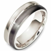 Item # F133241TP - Titanium and Platinum Contemporary Wedding Band