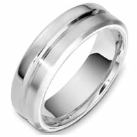 Item # F133241W - 14K White Gold Contemporary Wedding Band