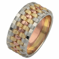 Item # F3056012E - 18K Wedding Band, Tied Together Forever