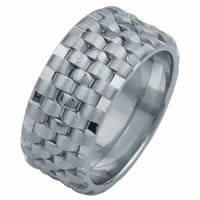 Item # F3056012W - 14K Wedding Band, Tied Together Forever