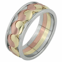 Item # F3060012 - 14K Wedding Band, Balance, Music and Love