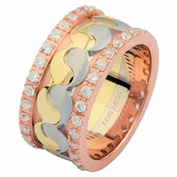 Item # F3060201DE - 18K Diamond Eternity Ring, Balance, Music and Love