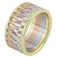 Item # F3064123E - 18K Wedding Band Interlocked Together Endless Bonds