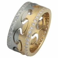 Item # F307310D - Diamond Wedding Band Locked Together