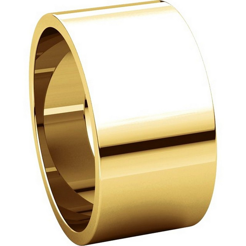 Item # F33661E View 5 - 18K Yellow Gold 10mm Wide Wedding Band
