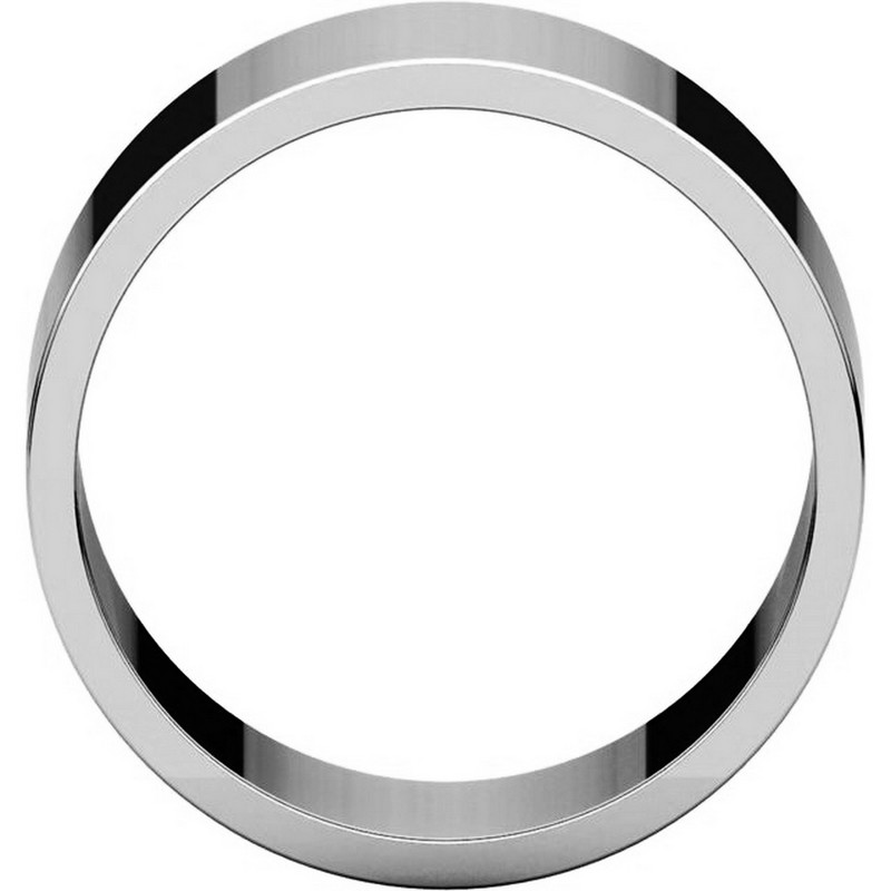 Item # F33661PP View 2 - Plain Platinum 10 mm Wide Wedding Band