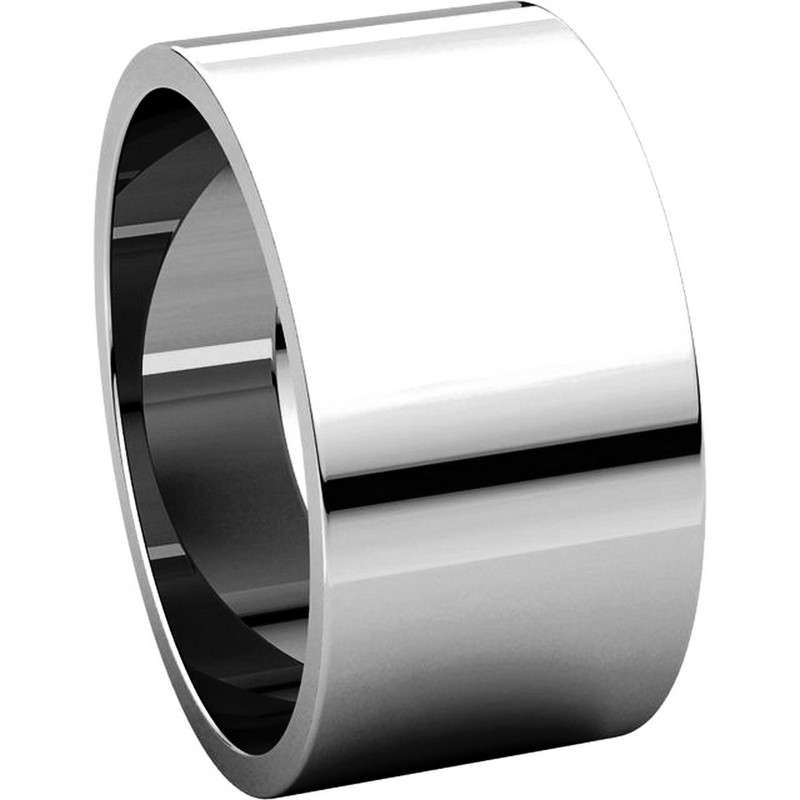 Item # F33661PP View 5 - Plain Platinum 10 mm Wide Wedding Band