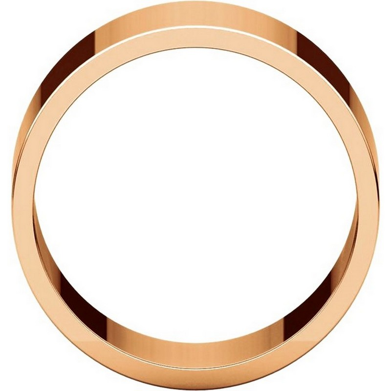 Item # F33661RE View 2 - 18K Rose Gold 10mm Wide Wedding Band