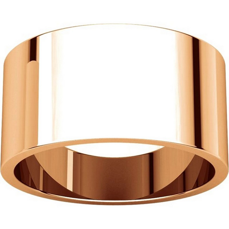 Item # F33661RE View 3 - 18K Rose Gold 10mm Wide Wedding Band