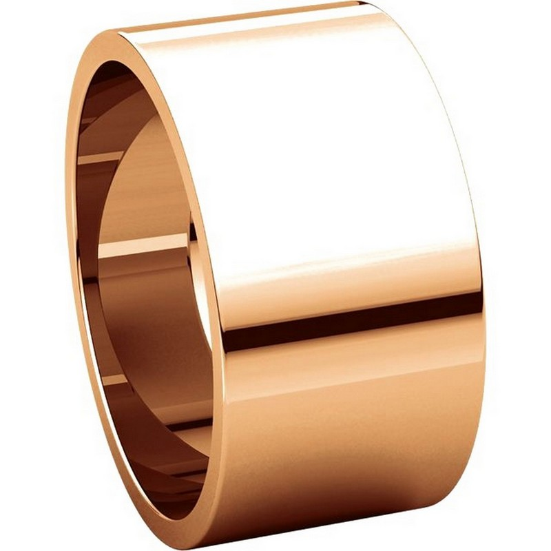 Item # F33661RE View 5 - 18K Rose Gold 10mm Wide Wedding Band