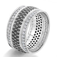 Item # G106864WE - White Gold Black & White Diamond Eternity Ring