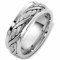 Item # G125891PD - Palladium Hand Crafted Wedding Band