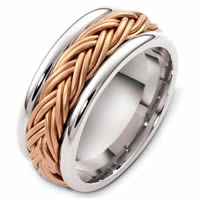 Item # G125901R - 14K Rose & White Gold Handcrafted Wedding Ring
