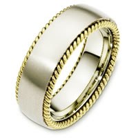 Item # G126291E - 18 Kt Two-Tone Wedding Band