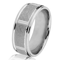 Item # G14549WE - 18Kt White Gold 8MM Classic Wedding Ring